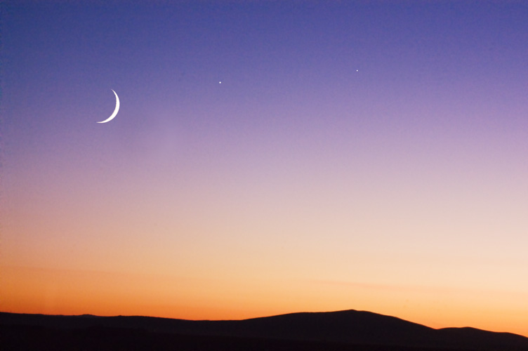Starry Night Images - Moon-Venus-Jupiter Conjunction